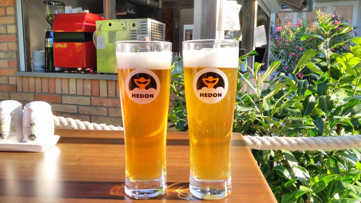 Hedon sörök frissen csapolva a Lavender étteremben, Balatonvilágoson - Kocsmaturista