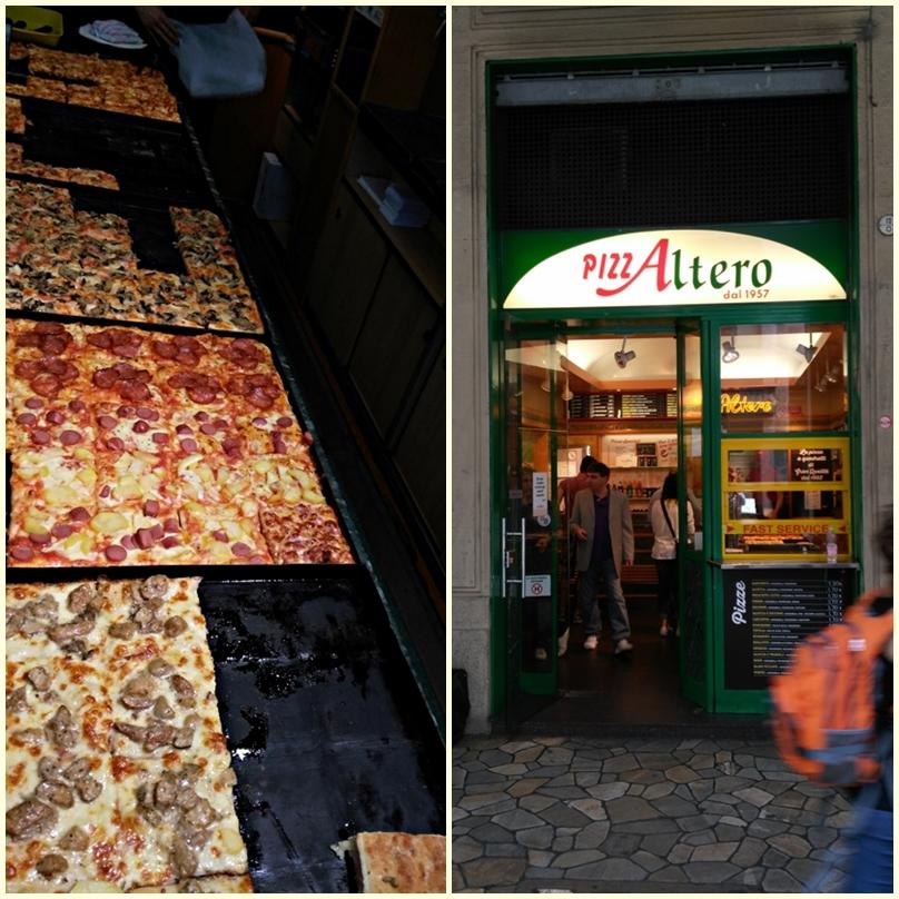 A Pizza altero pizzája, a Via Ugo Bassi-n