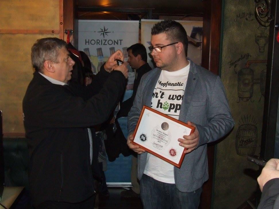 Kiss Tamás, a Hopfanatictól a Dublin Craft Beer Cup magyarországi díjátadóján a Krak'n Townban - Kocsmaturista