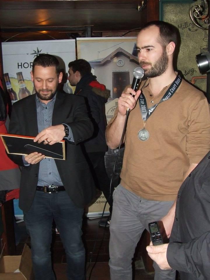 A Mecénás Sörműhely a Krak'n Town-ban a Dublin Craft Beer Cup díjátadóján