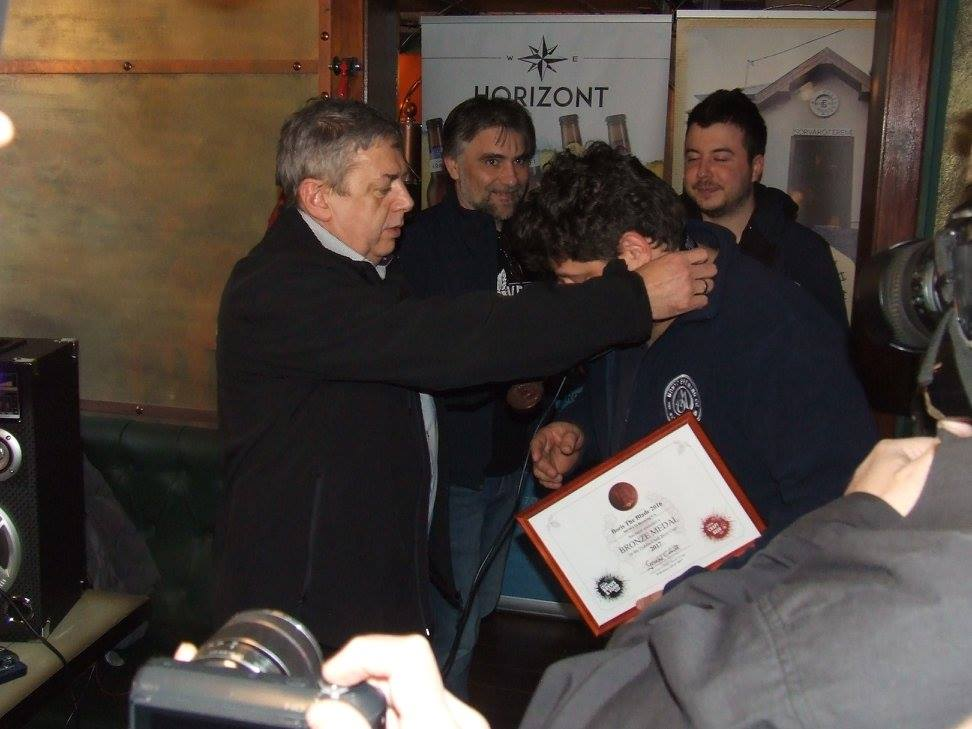 A Monyo Brewing Co. a Dublin Craft Beer Cup magyarországi díjátadóján, a Krak'n Townban