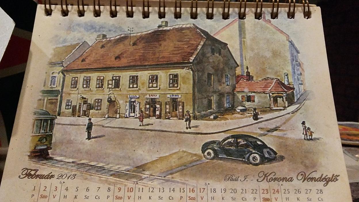 A 100 éves borozóban egy pár éves naptár - Kocsmaturista
