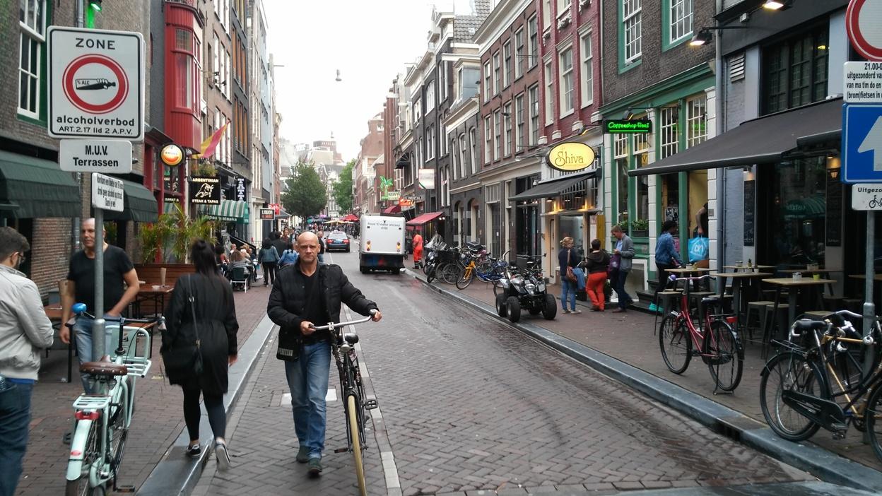 Amszterdami utcakép - Kocsmaturista