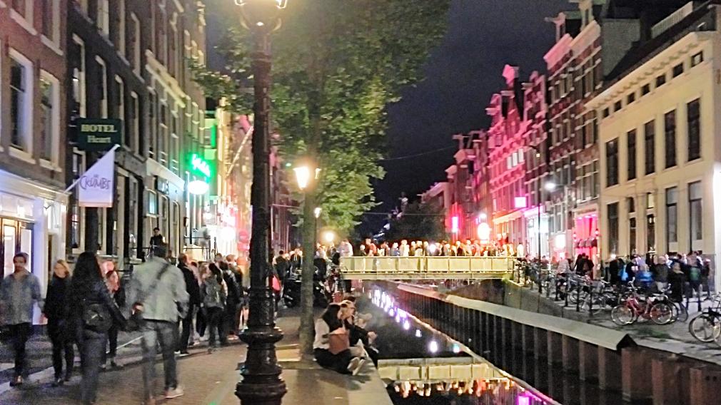 A piroslámpás negyed Amszterdamban