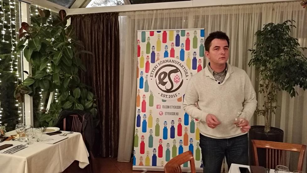 Kovács Krisztián, az Etyeki Sörmanufaktúra sörfőzője a Jardinette étterem a Sörfőző és a Séf eseményén