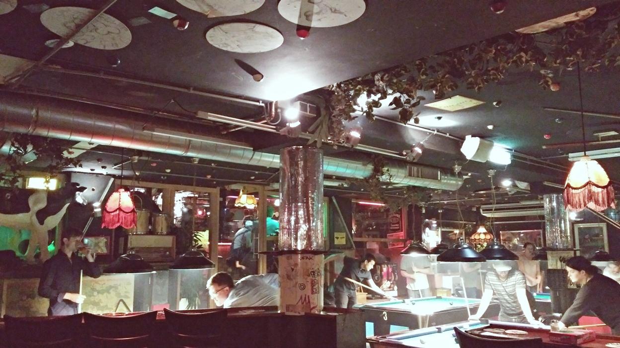 A Pool Bar biliardterme Amszterdamban - Kocsmaturista