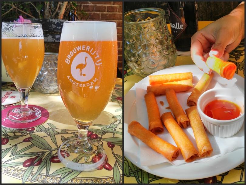 A Brwerijtij Amsterdam söre és a loempia a Kapitein Zepposban, Amszterdamban - Kocsmaturista