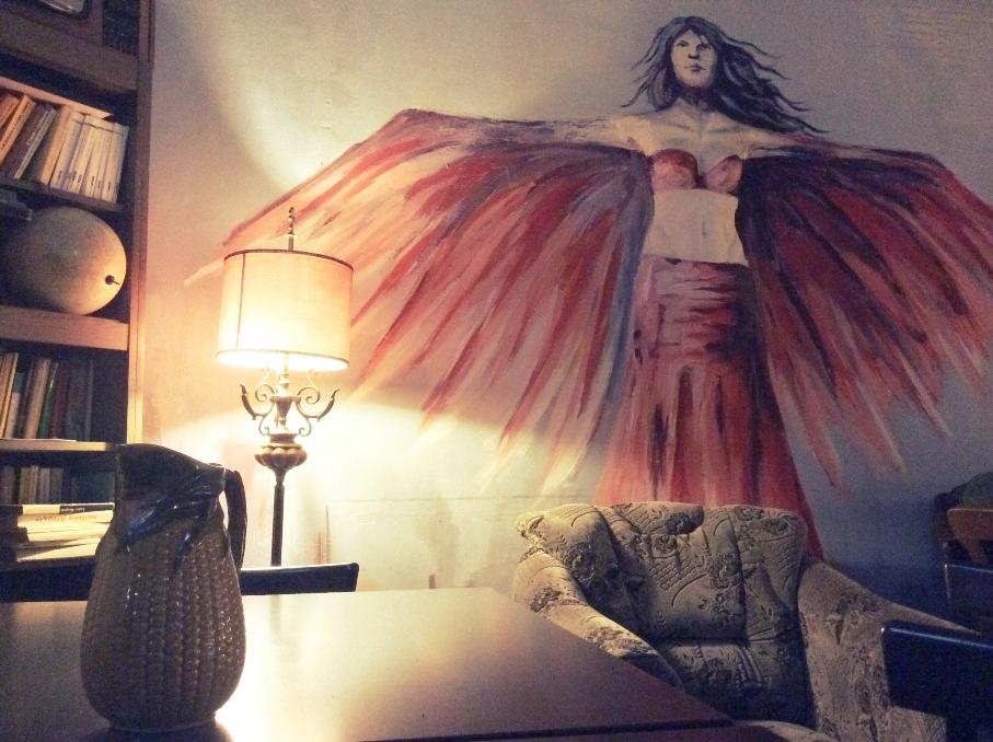 Szárnyaló angyal falfestmény - B1 - Kocsmaturista
