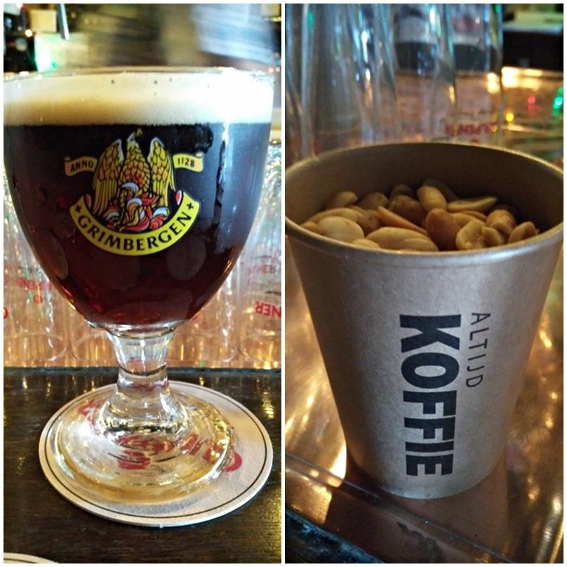 Grimbergen és mogyoró a Muziek Café de Tapperij-ben, Heerlenben, Hollandiában - Kocsmaturista