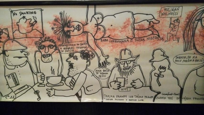 Lengyel kocsmák - Vis-á-vis törzsvendég karikatúrák, Krakkó - Kocsmaturista
