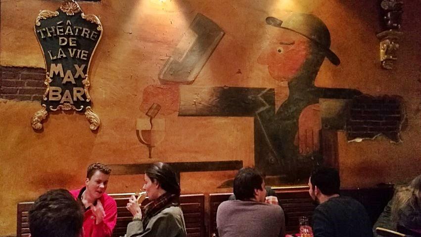 1000. kocsma - Heidelberg, Max Bar, Dubbonel falfestmény - Kocsmaturista