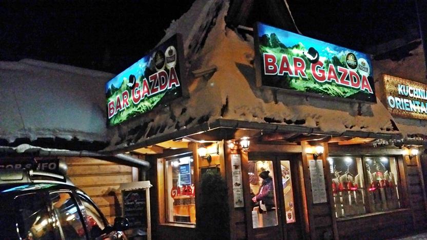 Zakopane - Gazda bar bejarat - Kocsmaturista