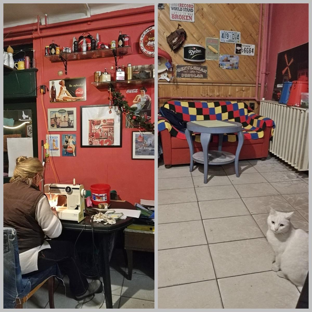 Kocsmaturista - budapesti kocsmatúra olasz szemmel - Árnyas Söröző, varrógép akcióban és a Ház macskája - Kocsmaturista