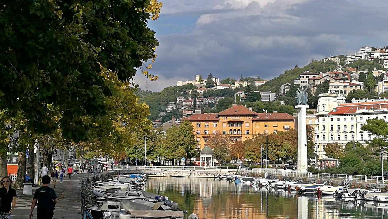 Helikopter nélkül Fiumében - Rijeka - Kocsmaturista - Recsina folyó, csatorna