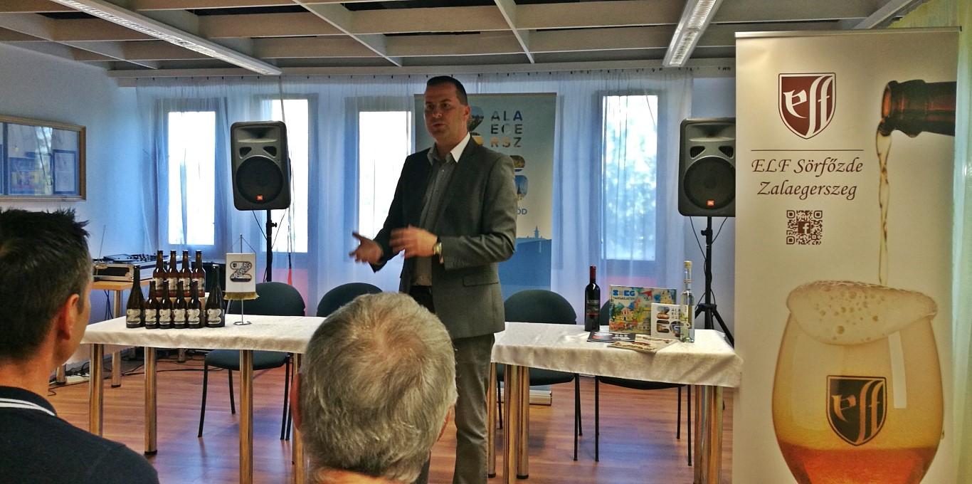 Zegi sör bemutató - Kocsmaturista - A polgármester megnyitója