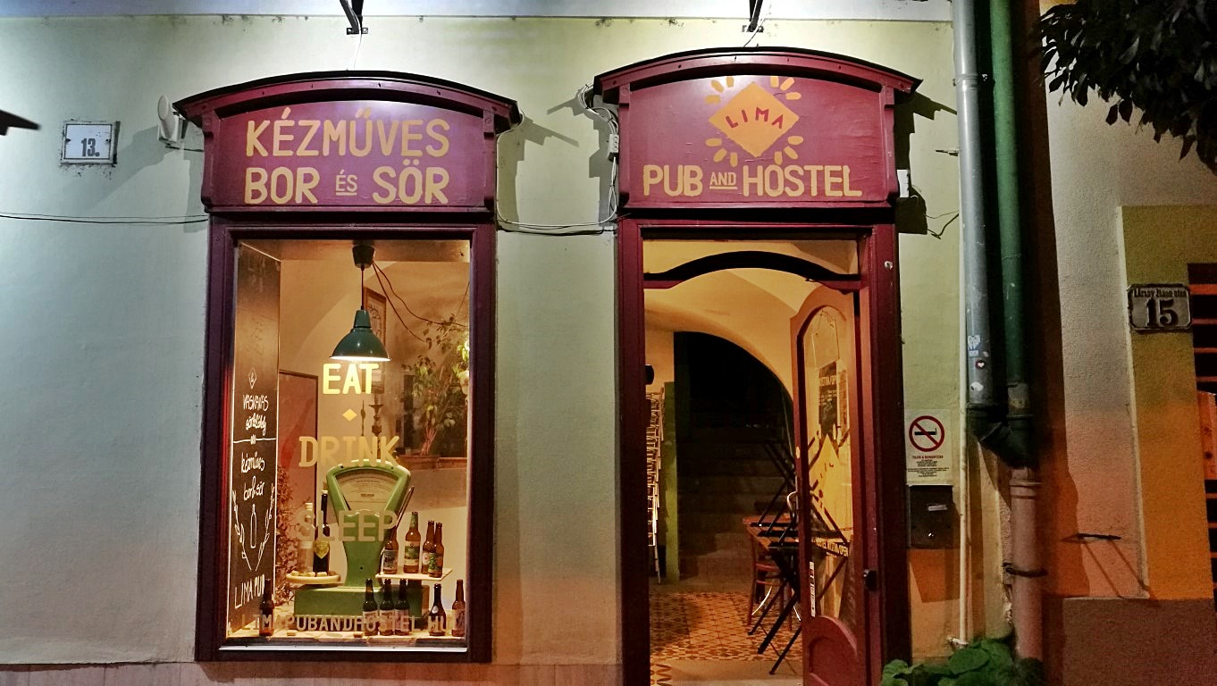 Kocsmalátogatások a Magyarországi Sörcikkgyűjtő Klubbal - Lima Pub & Hostel