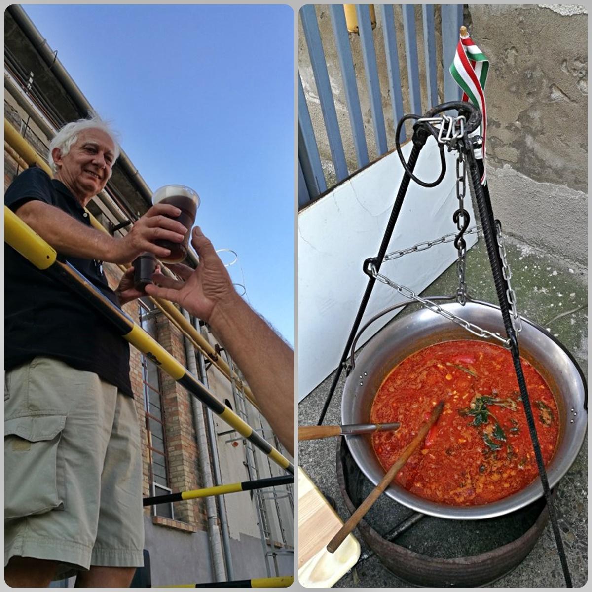 Kocsmalátogatások a Magyarországi Sörcikkgyűjtő Klubbal - Fehér Nyúl Brewery - bográcsozás a sörfőzdében - Kocsmaturista