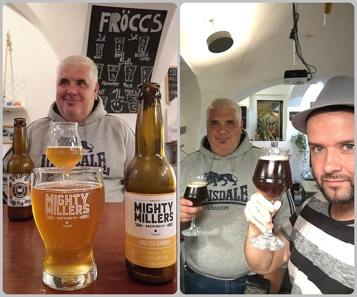 Kocsmalátogatások a Magyarországi Sörcikkgyűjtő Klubbal - Lima Pub & Hostel - Simacsek-Kun László, sörcikkgyűjtővel közös kocsmalátogatás helyi és környékbeli sörökkel (Vaskakas Sörfőzde, Mighty Millers, Krois Brewery)