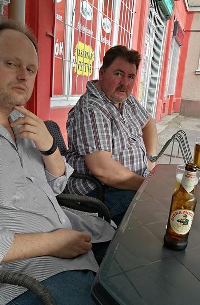 Nagy Csaba, a Rákóczi Szövetség Oroszlányi Szervezetének elnöke volt a kocsmai és városi idegenvezetőnk Oroszlányban - Kocsmaturista